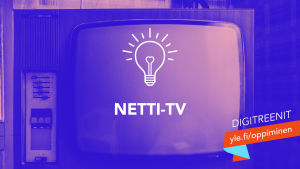 Digitreenien pääkuvassa vanha kuvaputkitelevisio ja teksti Netti-tv