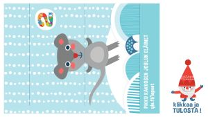 Tulostettava askartelu vihkokuva hiiri