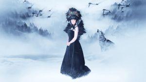 Kylmän maan kuningatar - radio-ooppera kahdessa näytöksessä. Kuvassa kuningattarena säveltäjä Riikka Talvitie