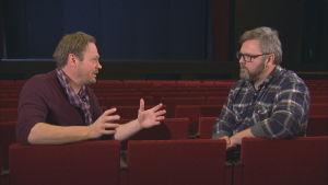 Robin Nyman och Matti Aspvik pratar