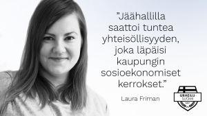 Toimittaja Laura Friman