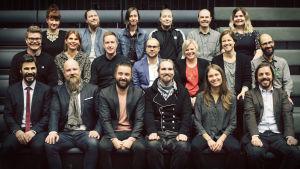 Noin viikon uutiset -tv-ohjelman työryhmä vuonna 2017