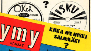 Jymy-lehden kansikuva-artikkeli Hiski Salomäestä (1974).