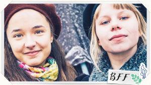 Olivia_17-pelin päähenkilöt Olivia ja Iita