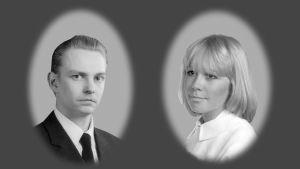 Kuvituskuva kuunnelmaan Runar ja Kyllikki, näyttelijät Antti Majanlahti ja Mari Posti.