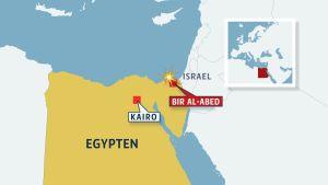 Karta över Egypten och Sinai.