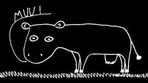 Taiteellinen kuvaus lehmästä