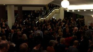 Suomi 100-konsertin yleisöä Berliinin Filharmoniassa 27.11.2017.