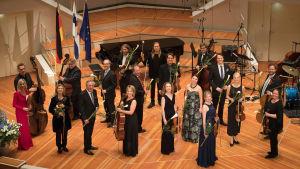 Suomi 100-konsertin taiteilijoita Berliinin Filharmoniassa 27.11.2017.