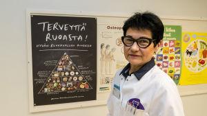 Eeva Nisinen, näringsterapeut vid centralsjukhuset i Kajanaland