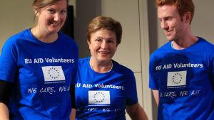 EU:n vapaaehtoisjoukkoja.