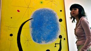Espanjalaisen taiteilijan Joan Miron taidetta.