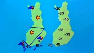 Sääkartalla ennätyksellisiä pakkaslukemia loppiaisena 1985