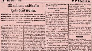Työmies-lehti 8.11.1917