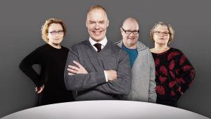 Pyöreän  pöydän jäseniä vuonna 2018: Anu Koivunen, Pauli Aalto-Setälä, Ruben Stiller ja Kaarina Hazard