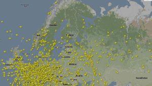 lentokonetutka kuva euroopasta