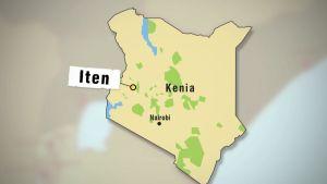 Kartta, jossa näkyy Itenin sijainti Keniassa.