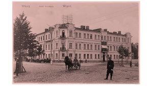Hotelli Belvedere Viipurissa 1900-luvun alussa.