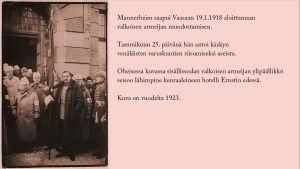 Mannerheim esikuntineen Vaasassa v. 1923.