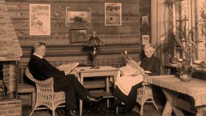 Jean ja Aino Sibelius Ainolassa 1915