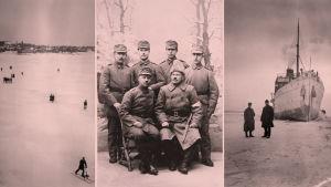 Saksasta saapuneita jääkäreitä.
