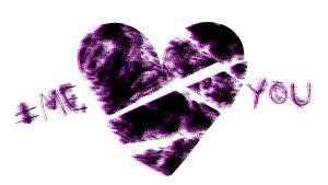 piirretty sydän ja teksti me and you