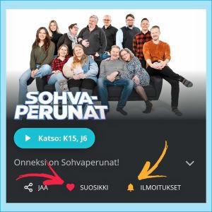 Kuvakaappaus Yle Areenasta: Sarja on suosikkina ja uusista osista on tilattu ilmoitukset.