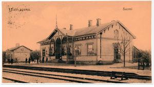 Talin asema 1900-luvun alussa. Postikortti.