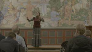 Sherin Khankan föreläser för lärare