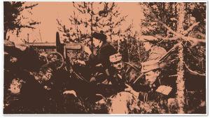 Valkoisten konekivääripesäke Mouhun rintamalla Mäntyharjulla