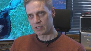 Patrick Eriksson, isexpert vid Meteorologiska institutet