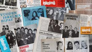 Hilkka Kantelisen (myöh. Ikonen) tekemiä haastatteluja 1960-luvun Iskelmä-lehdissä.