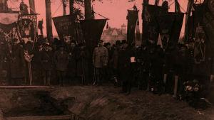 Punaisten hautajaiset Helsingin Mäntymäellä 1918