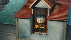 Icare katsoo ulos ikkunasta elokuvassa Elämäni kesäkurpitsana