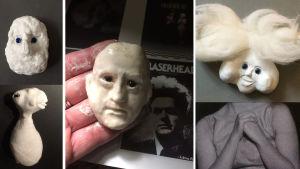 Eraserhead-hahmojen muotoilua.