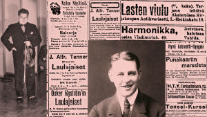 Ilmoituksia Työmies-lehdessä maaliskuussa 1918.