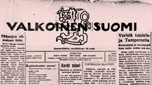 Sanomalehti Valkoinen Suomi.