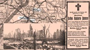 Kavantsaaren tuhoutunut asema 1918.