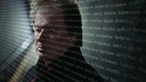 Kirjailija Kjell Westö Sukupolvi.Nyt -teoksessa.