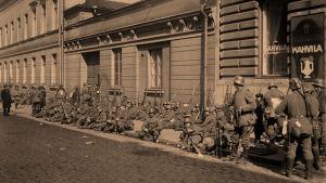 Saksalaisia sotilaita Helsingissä 13.4.1918.