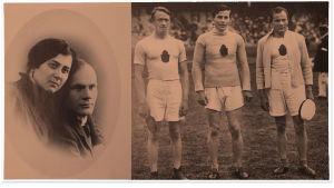 Oili ja Väinö Siikaniemi. Vuoden 1912 Tukholman olympialaisten keihäskilvan voittajakolmikko pronssia Peltonen, kultaa Saaristo ja hopeaa Siikaniemi.
