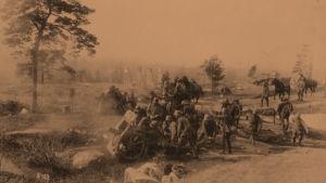 Saksalaisia sotilaita Pasilassa huhtikussa 1918.