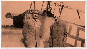 Venäjältä Suomeen, Antrean Päähkjärven jäälle Nieuport 10 koneella loikanneet Mihael ja Ludmila Safanov Lappeenrannassa 1918.