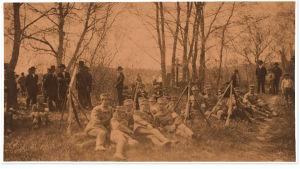 Jääsken suojeluskuntalaisia huhtikuussa 1918.
