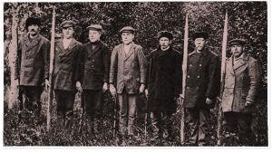 """Eteläpohjalaisia """"palokuntalaisia"""" 1917."""