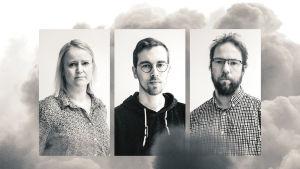 Malin Ekholm, Petter West och Linus Lång