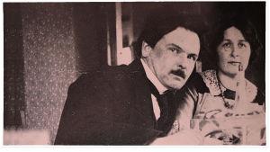 Toivo ja Alma Kuula kotonaan Wecksellintiellä 1914.
