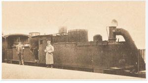 Valkoisten panssarijuna Antreassa 1918.