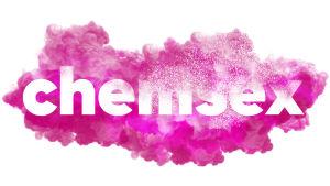 chemsex-teksti lukee vaalenpunaisessa pilvessä