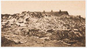 Räjähdyspaikka Viipurin Patterinmäellä 1918.